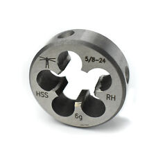 "Lighthouse quality tools® - 5/8-24 RH HSS Round Threading Die 1-1/2"" OD Gunsmith"