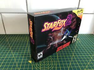 Starfox 2 -  Super Nintendo Game Box Made For You From Card - Homemade SNES