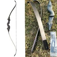 "60"" Recurve Bow Takedown 30-60lbs Archery RH Hunting Bamboo Core Limbs Longbow"