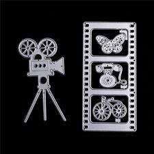 Multi-use Camera Film Series Metals Cutting Dies Stencils for  DecorativeCard CP