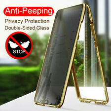 Anti-peep Double Side Magnetic Phone Case Privacy Protective Tempered Glass Case