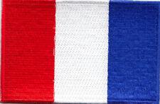 FRANCE FLAG Iron On Embroidered Applique Patch Flag of France French