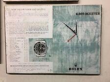 Rolex Vintage GMT master 6542 ad Art Distressed design  Larger size