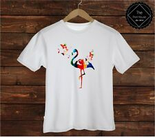 Colourful Flamingo T Shirt Tee Top | Dope Homies Hipster Shop Urban Art Animals