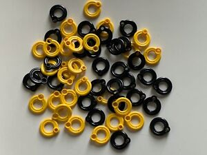 Lego 55 parts - lot - YELLOW & BLACK LIFEBUOY CITY HIDDEN SIDE BOAT ACCESSORIES