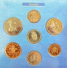 1988 Regno Unito Bu COIN SET BU ANNO 7-Medaglia ROYAL Nuovo di zecca pacco