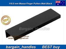 Black Stylish Finger pullers Kitchen cabinets door handles 7 x 116mm Best Buy