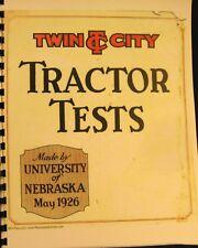 1926 Doppel Stadt Minneapolis-Moline Traktor Tests May-1926 Universität Nebraska