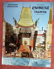 1960's Grauman's Chineese Theatre Hollywood Souvenier Brochure