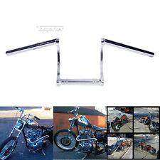 """Motorcycle 1"""" inch Universal Fit Chrome Drag Bar Handlebar Yamaha Honda Suzuki"""