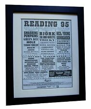 READING FESTIVAL+1995+ROCK+POSTER+AD+FRAMED+ORIGINAL+EXPRESS GLOBAL SHIP+TICKETS