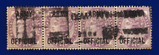 More details for 1896 sgo43 1d lilac (16 dots) army official l38 strip (4) good used cat £28 deik