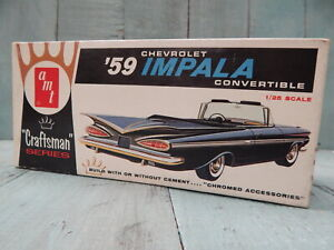 AMT '59 CHEVY IMPALA ORIGINAL VINTAGE CRAFTSMAN RARE COLLECTABLE KIT IN ART BOX