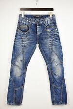 Cipo & Baxx C-894 Herren W30/32 Bestickt Zerrissen Neu Slim Fit Jeans 34184 _ GS