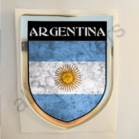 Pegatina Argentina 3D Bandera Grunge Escudo Adhesivo Resina Relieve Pegatinas