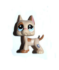 Littlest Pet Shop Puppy Blue Eyes Tan Brown Dog Great Dane Figure Child Toy UK