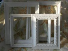 New ListingShabby white chic picture frames lot of 4