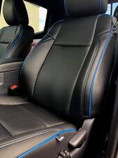 KATZKIN BLACK LEATHER INT SEAT CVRS FITS 2016-2019 TOYOTA TACOMA DBL CAB TRD SR5