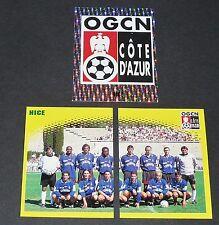 OGCN NICE OGCN GYM NISSA AIGLONS RAY COMPLET PANINI FOOT 98 FOOTBALL 1997-1998