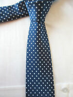 GEORGE BLUE WHITE 3 INCH POLYESTER NECK TIE