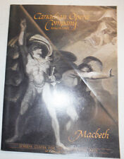 Canadian Opera Company Magazine Macbeth O'Keefe Centre October 1986 032315R