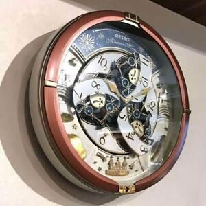 SEIKO RE601B Clock Wall Clock Analog 52 Melody Song Automaton Clock Japan NEW