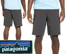 "mint! PATAGONIA stretch wavefarer walk shorts 20"" dark grey quick dry mens 38 xl"