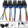5 x 12V Micro Automotive Waterproof Changeover Relay&Harness Socket 30/40A 5-Pin