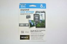 New Original Sony MicroSD SDHC 8GB (40MB/s UHS- Class 10)