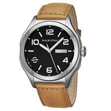 Philip Stein Men's Prestige Black Dial Beige Strap Automatic Watch 16AWLBKCISCRP
