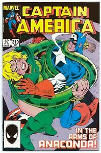 CAPTAIN AMERICA #310 Oct 1985 NM 9.4 W 1st App SERPENT SOCIETY B/O