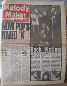 Melody Maker Mar 13th '76 - David Bowie Beatles Bob Marley Slik Deep Purple