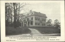 Roxbury MA Mount Pleasant Old Folks Home c1910 Card/Postcard