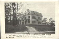 Roxbury MA Mount Pleasant Old Folks Home c1910 Card/Postcard