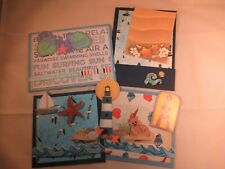 BY THE SEA  3D PAPER PIECING  SCRAPBOOK MAT SET
