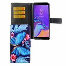 Samsung Galaxy A9 2018 Tasche Handy-Hülle Schutz-Case Etuis Blauer Schmetterling