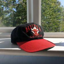 Vintage 90s Chicago Bulls Black/Red Embroidered Official NBA AJD Snapback Cap
