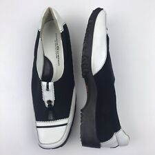 Walter Genuin Linea Stretch Savanah Women's Black & White Golf Shoes-Size 40 1/2