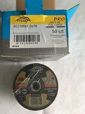 50 Most 100 x 1 x 16 A60T-BF Cutting Discs