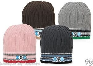 Unisex Urban Beach Ribbed Skull Beanie Hats with Embroidered Logo Two Sizes