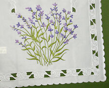 New Lavender Floral  Purple Lilac Embroidered Oblong Table Runner 175cm M443B