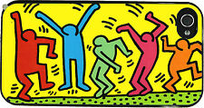 """Cover """"The Dancers"""" Keith Haring Pop Art per iPhone 4, 4s, 5, 5S, 5C, 6"""
