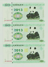 3-uncut 2013 panda test note with folder UNC