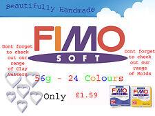 FIMO Doux 56g Argile Polymère 30 Couleurs 5cm x 5cm Modeler Bijoux Artisanat Art