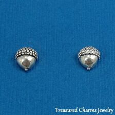 .925 Sterling Silver ACORN Nature Autumn Post Stud EARRINGS