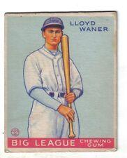 1933 Goudey Baseball card 164 Lloyd Waner, Pittsburgh Pirates, VGEX