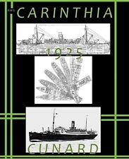 RMS CARINTHIA 1925 Cunard Line: Complete Retractable GA Deck Plans + Profile