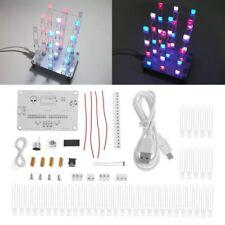 Diy Electronic Kit Touch Control 3x3x4 Cube Multicolour Led Light Cubes Diy Kits