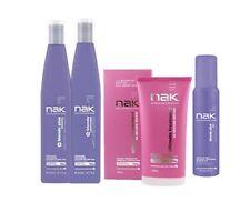 NAK Blonde PLUS Shampoo & Conditioner + Ultimate Treatment and 10v Toning Foam