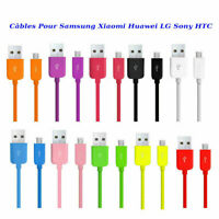 Câble de synchronisation micro USB Data chargeur pour samsung LG Sony HTC Huawei